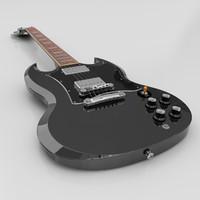 3d gibson sg guitar