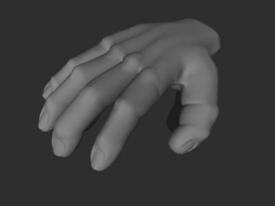 man hand 3d obj