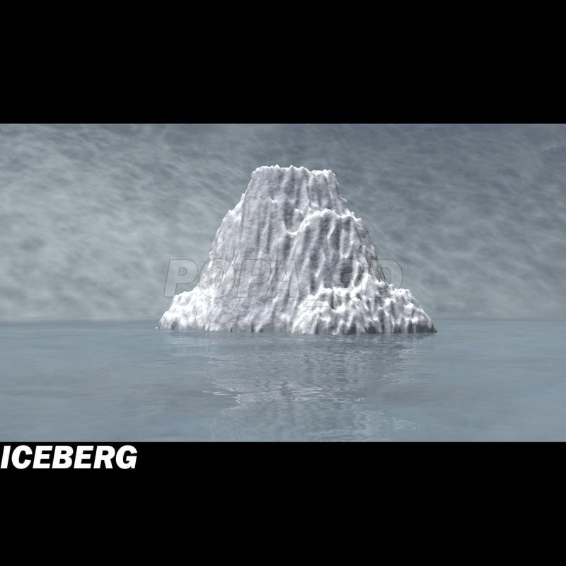 sea scene iceberg 3d model