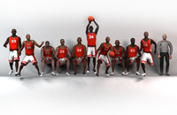 Basketball team red