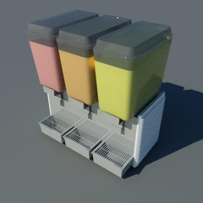 juice dispenser 3d dwg
