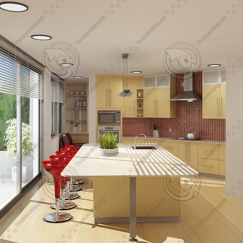 3d model kitchen realist published