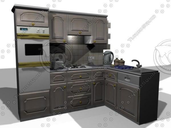 3d kitchen domestic model