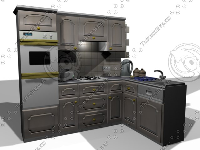 3d kitchen domestic model