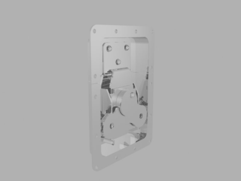 butterfly latch case 3d model