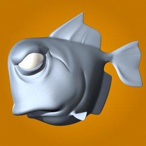 3d max cartoon fish