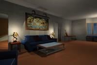 maya basic home interior