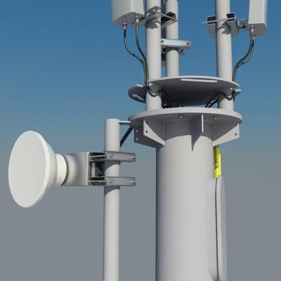 3d cellular monopole 15m antenna model