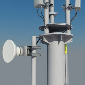 3d cellular monopole 15m antenna model