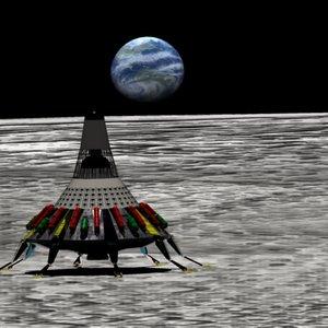 moon lander 3d model