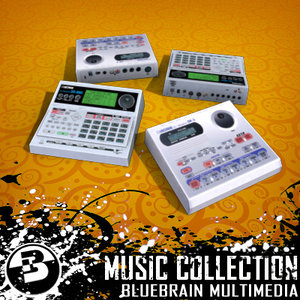 drum machine 3d obj