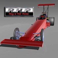 fuel dragster car 3d lwo