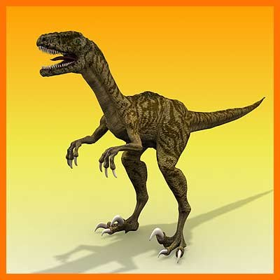 3d velociraptor dinosaur