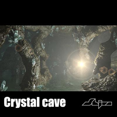 cave crystal 3d max