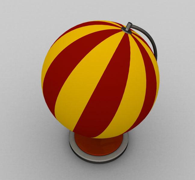 3d globe toy
