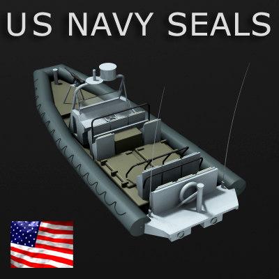 11m rigid inflatable boat 3d model