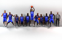 blue basketball team 3d model