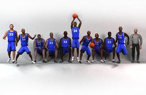 blue basketball team 3d model