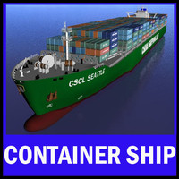 container vessel shipping 3d max