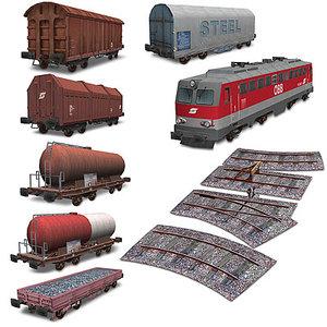 3dsmax train railways
