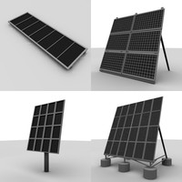 3d 3ds solar panels