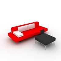 3d modeled sofa