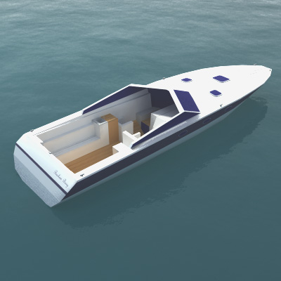 3d luxury speedboat