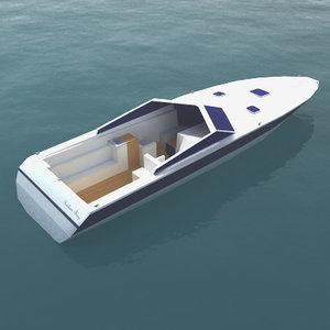 3d luxury speedboat