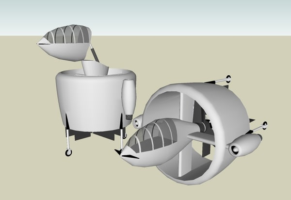 free vtol sketchup 3d model