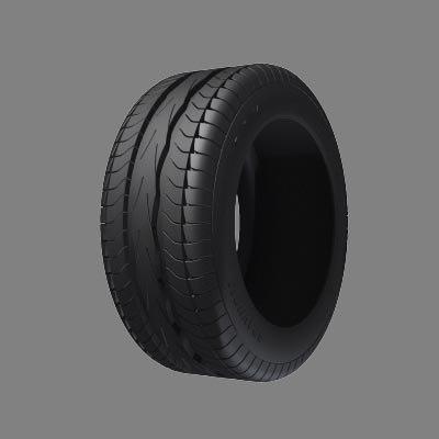 3d max car tire