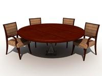 3d model dining room