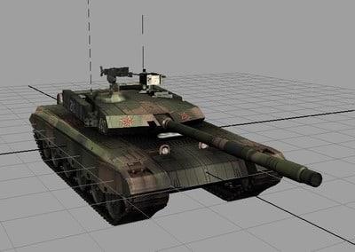 3d chinese type main battle tank