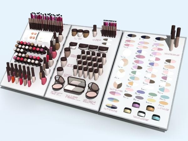 make-up testers 3d model