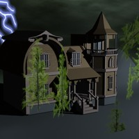 3ds max spooky house
