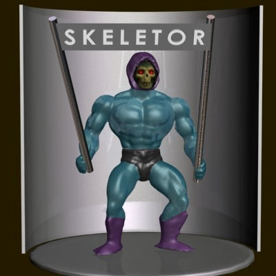 skeletor action figure 3d model