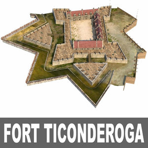 3ds max fort ticonderoga