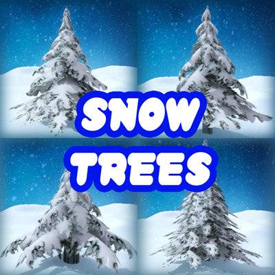 snow trees 3d model