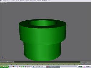 free mario tube 3d model
