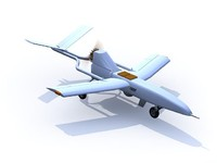 remotely military aircraft 3d max