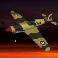 ww2 fighter plane pzp40 3d model