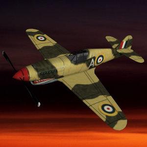 ww2 fighter plane pzp40 3d model