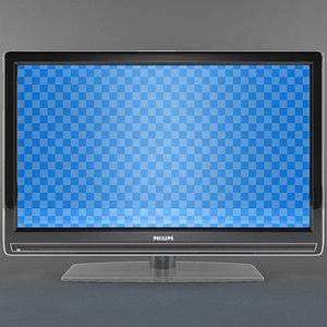 3dsmax philips 32pfl7962d lcd tv
