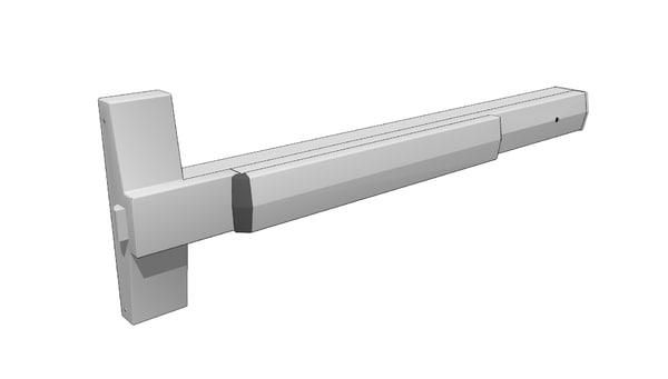 3ds max door push bar yale