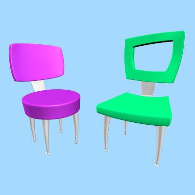 maya cartoon chairs