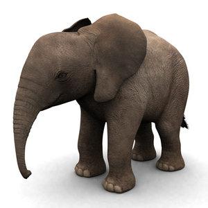 3ds max elephant