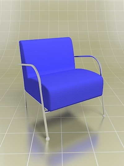 3d max easy chair