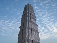 3d jin mao tower skyscrapers model