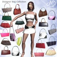 fashion designer bags - 3d 3ds