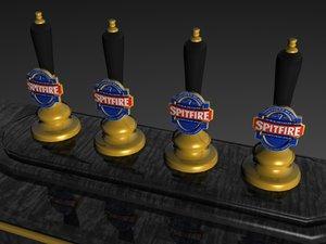 spitfire beer tap 3d max