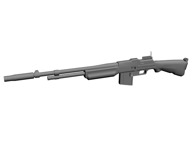 3dsmax browning automatic rifle m1918